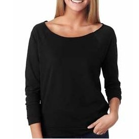 NEXT LEVEL APPAREL Ladies' French Terry 3/4-Sleeve Raglan