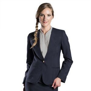 Ladies UltraLux Polyester Collarless Cardigan Blazer